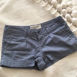Blue American Rag shorts with white polka dots